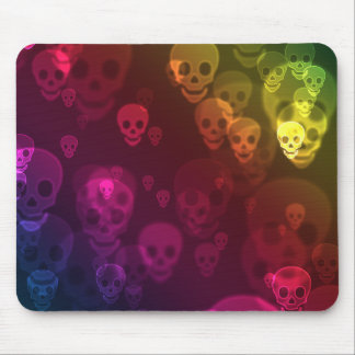 Rainbow Ghostly Skull Mouse Pad