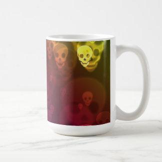 Rainbow Ghostly Skulls Halloween Coffee Mug