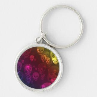 Rainbow Ghostly Skulls Keychain