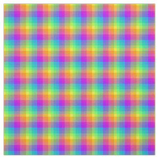 Rainbow Gingham Fabric