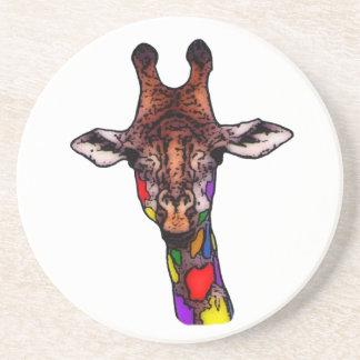 Rainbow Giraffe Coaster Drink Coaster