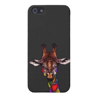 Rainbow Giraffe iPhone 5/5S Cases