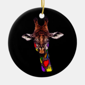 Rainbow Giraffe Ornament