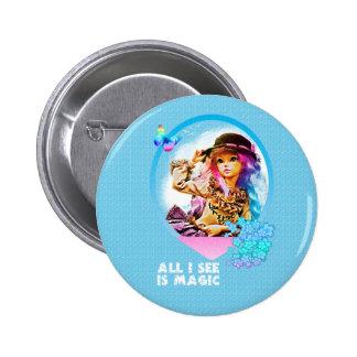 Rainbow Girl 6 Cm Round Badge