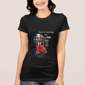 Rainbow Girl Crew Neck T-Shirt