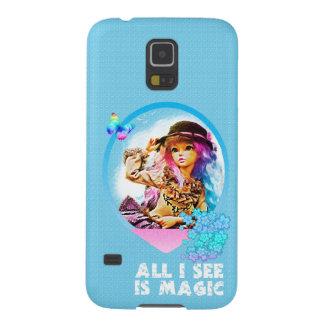 Rainbow Girl Galaxy S5 Cases