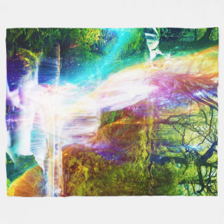 Rainbow Girl Garden Fleece Blanket