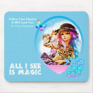 Rainbow Girl Mouse Mat