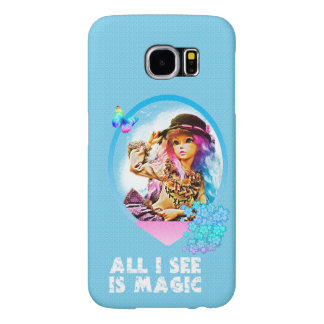 Rainbow Girl Samsung Galaxy S6 Cases