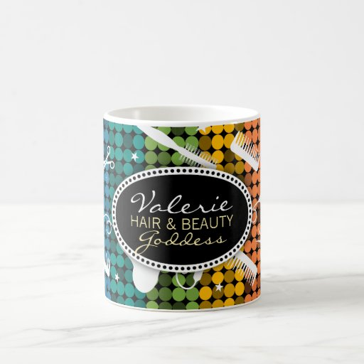 Rainbow Glam Custom Hair & Beauty Mug