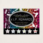 Rainbow Glam Custom Salon Loyalty Punch Card