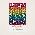 Rainbow Glam Hair Salon Vertical Business Card