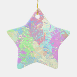 Rainbow glass ceramic star decoration