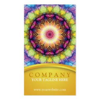 Rainbow Glass Mandala Pack Of Standard Business Cards