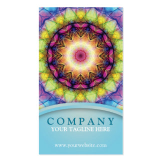 Rainbow Glass Mandala Pack Of Standard Business Cards