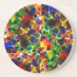 """Rainbow Glass"" photo coasters"