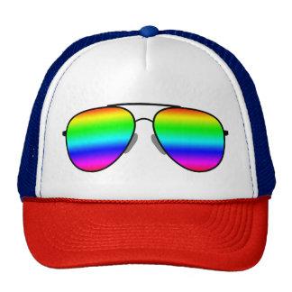 Rainbow Glasses Cap