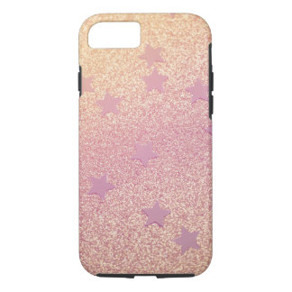 Rainbow Glitter and Stars iPhone 7 Case