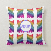 Rainbow Glitter Cat Fashion Cushion