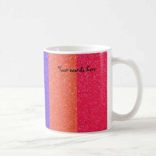 Rainbow glitter coffee mug