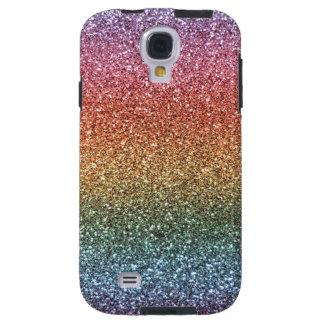 Rainbow glitter galaxy s4 case