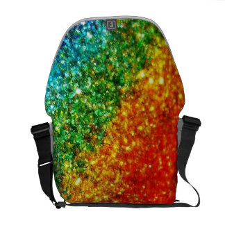 Rainbow Glitter Messenger Bag