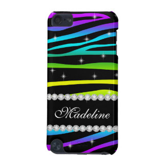 Rainbow Glitter Sparkles Zebra 5G iPod Touch Case