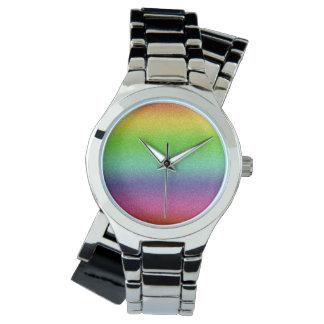 Rainbow Glitter Texture watch