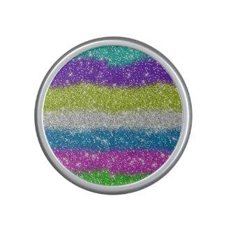Rainbow Glitters Stripes Bluetooth Speaker