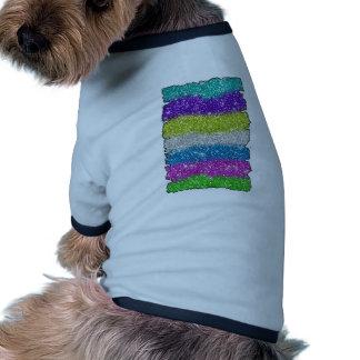 Rainbow Glitters Stripes Pet Tee