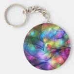 rainbow glowing lights key chain