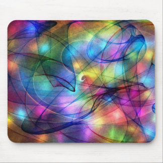 rainbow glowing lights mouse mat
