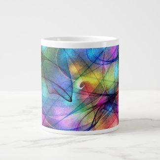 rainbow glowing lights 20 oz large ceramic coffee mug