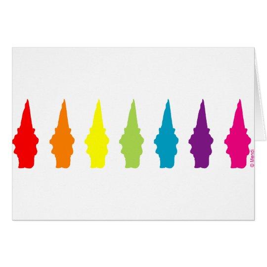 Rainbow Gnomes Card