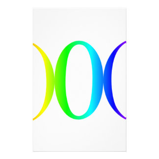Rainbow Goddess Symbol #2 Personalized Stationery