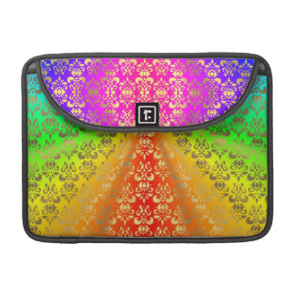 Rainbow gold damask sleeve for MacBook pro