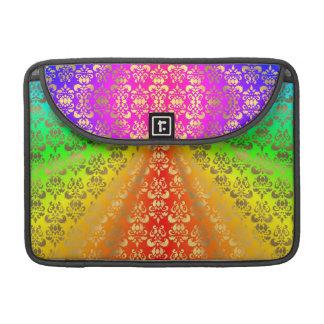 Rainbow gold damask sleeve for MacBooks