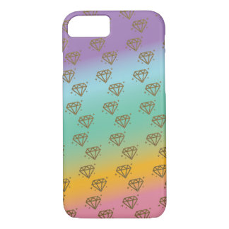 Rainbow/Gold Diamond Phone Case