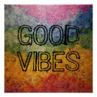 Rainbow Good Vibes Poster