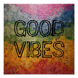 Rainbow Good Vibes Poster