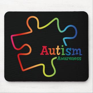 Rainbow Gradient Autism Awareness Mouse Pad