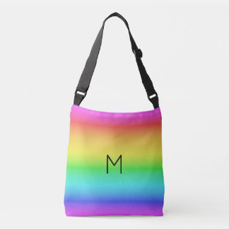 Rainbow Gradient custom monogram bags
