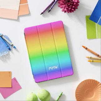 Rainbow Gradient custom monogram device covers iPad Air Cover