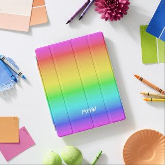 Rainbow Gradient custom monogram device covers iPad Cover