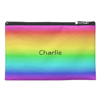 Rainbow Gradient custom name accessory bags