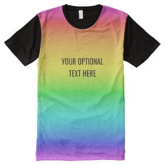 Rainbow Gradient custom t-shirt All-Over Print T-Shirt