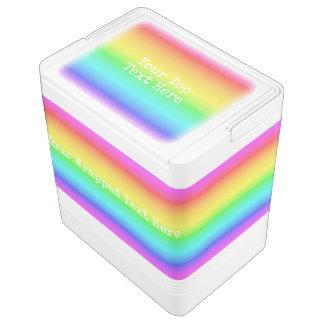 Rainbow Gradient custom text coolers Igloo Cooler