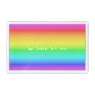 Rainbow Gradient custom text trays