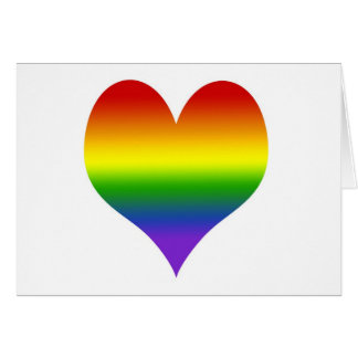 Rainbow Gradient Heart Note Card