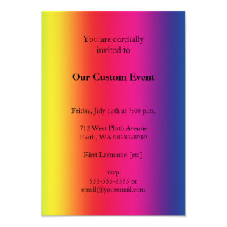 Rainbow Gradient 9 Cm X 13 Cm Invitation Card